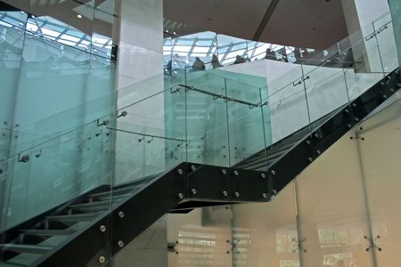 Glass stairs, modern architecture Stock Photo - 387765