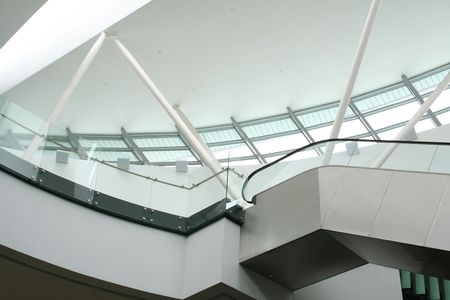 skylight: Architectural detail, skylight and escalator