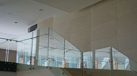 Glass stairs, modern architecture Stock Photo - 387762
