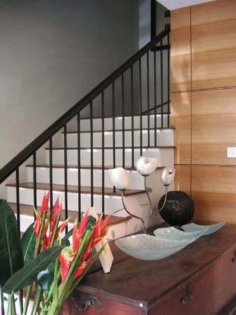 Stairs in a house, modern asian design