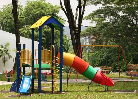 Children's playground in the park Stock Photo - 387717