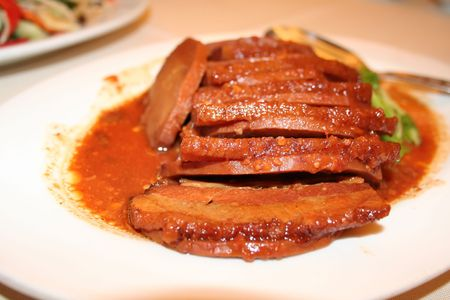 yam: A traditional chinese dish of pork and yam