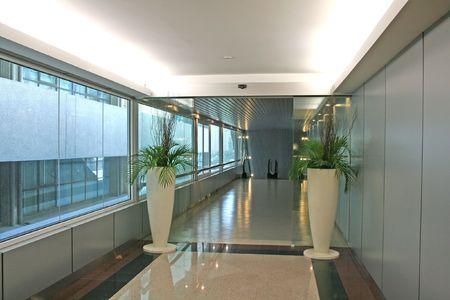 Modern entrance and corridor photo