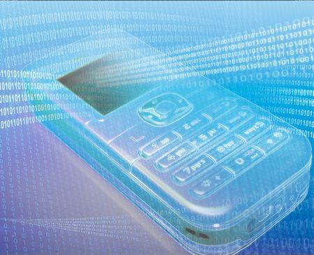 Mobile phone, digitally manipulated illustration illustration
