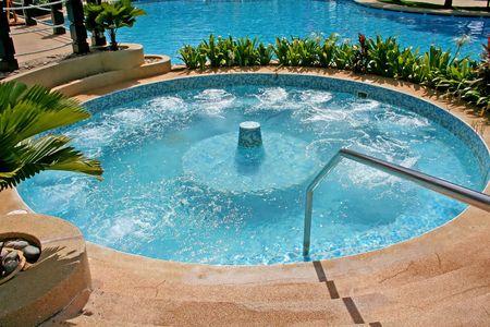 jacuzzi: Jacuzzi whirlpool bath in a resort