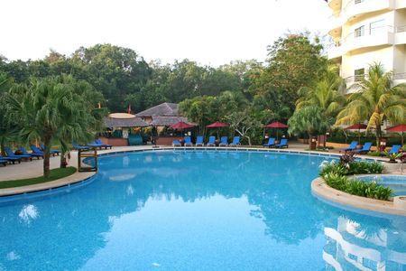 palmtrees: Resort swimming pool in Malaysia