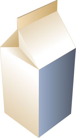 cold pack: Carton of milk, illustration in isometric 3d style Stock Photo