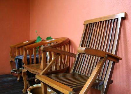 Bali-style wooden furniture photo