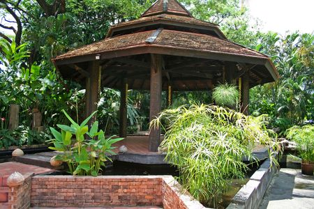 outbuilding: Asian pagoda-style gazebo