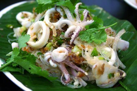 Thai seafood salad photo