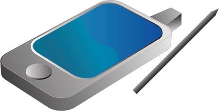 agenda electr�nica: Tel�fono PDA illustrtation, isom�trica estilo 3D  Vectores