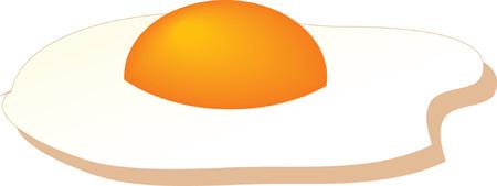 Fried egg, isometric illustration Stock Vector - 979426