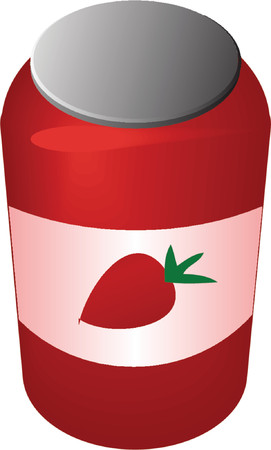 illustratin: Jar of jam, illustratin 3d isometric style