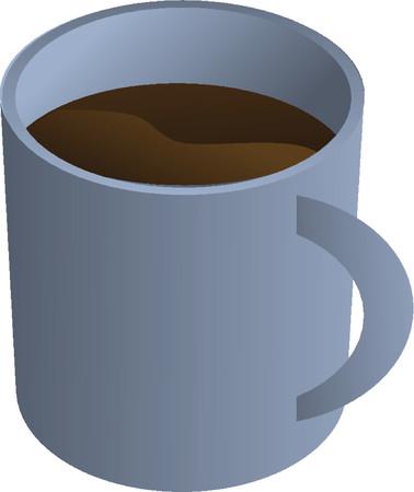 Coffee mug, isometric 3d illustration Vector