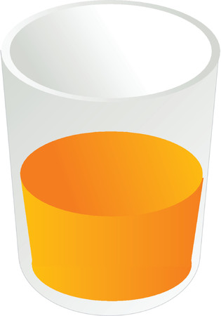 Glass of orange juice, isometric 3d illustration Vector