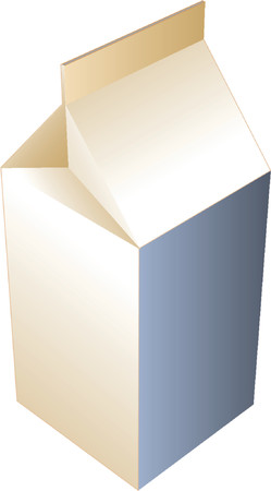 cold pack: Carton of milk, illustration in isometric 3d style Illustration