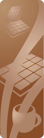 Restaurant or cafe menu panel depicting hot chocolate beverages, vector illustration illustration