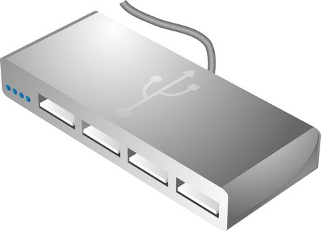 USB hub connecting and sharing multiple usb devices to a computer Stock Photo - 1016150