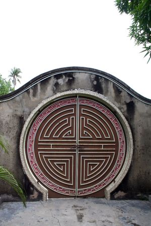 rounded circular: Traditional antique chinese gate, with round design