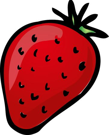 Sketch of a strawberry. Hand-drawn lineart look illustration illustration