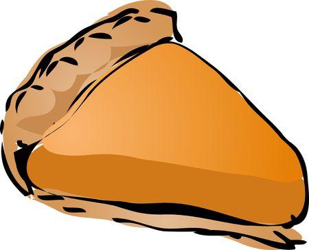 Pumpkin cream Pie, hand drawn retro illustration Stock Illustration - 1222419