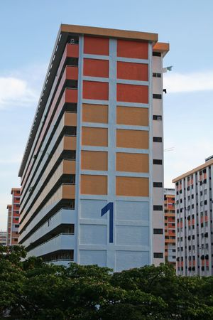 Singaporean public housing apartment block HDB Flats photo