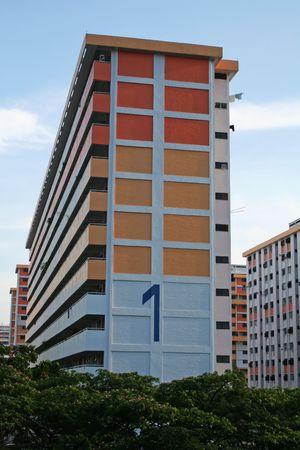 hdb: Singaporean public housing apartment block HDB Flats