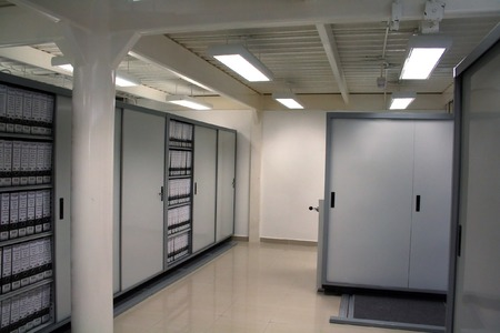 High security dedicated document storage with metal cabinets photo