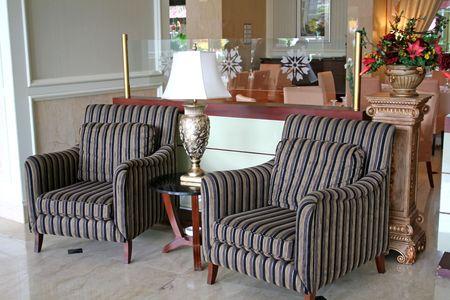 Elegant waiting area living room with sofas  Stock Photo - 1795992