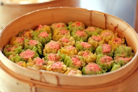 Steamed dumpling dim sum, Traditional chinese cuisine photo