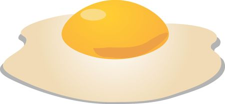 Fried egg sunny side up sometric 3d vector illustration Stock Illustration - 1842521