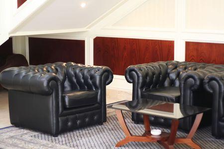 Elegant waiting area living room with sofas Stock Photo - 1934695