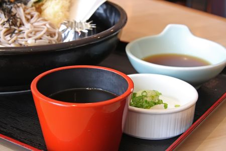 sauces: Japanese cuisine sauces and soup side dishes Stock Photo