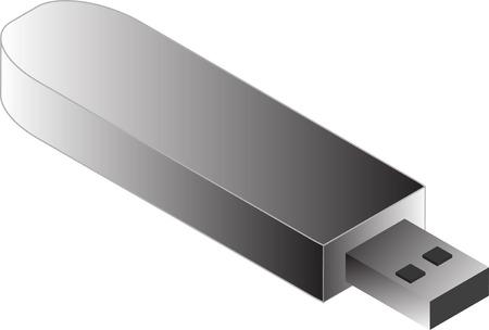 pendrive: USB Pendrive illustration, 3d isometric style Illustration
