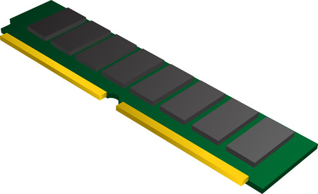 random access memory: RAM (Random Access Memory) chip illustration, 3d isometric style Illustration