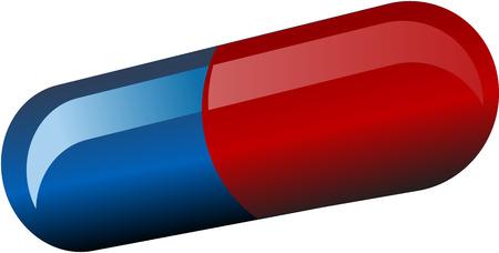 Antibiotic pill medicinec capsule isometric 3d illustration Stock Vector - 2459720