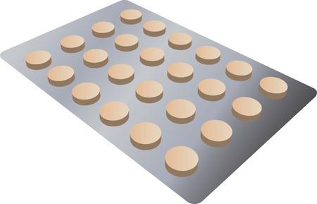 키트: A strip of pills, 3d isometric vector illustration