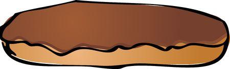eclair: Chocolate eclair donut illustration hand drawn sketch