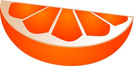 segment: Orange slice segment isometric illustration color gradient