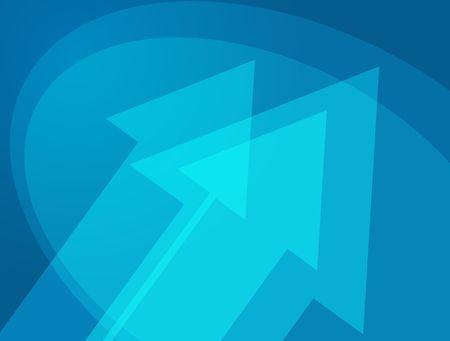 thrusting: Upward forward moving arrows abstract design illustration Stock Photo