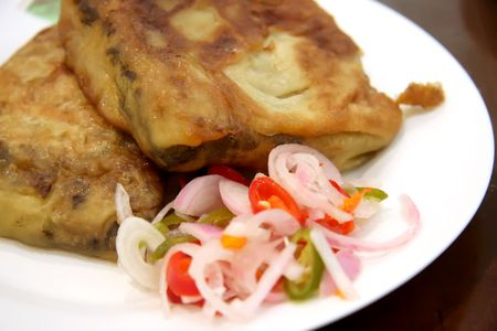 Murtabak traditional indian cuisine meat pastry Stock Photo - 3115026