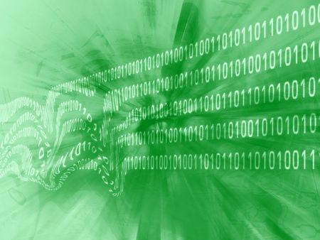 disrupt: binary codes Stock Photo