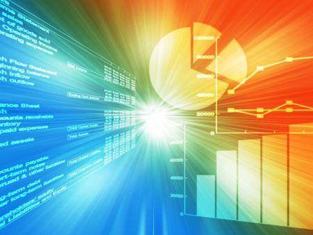 hoja de calculo: Hoja de c�lculo de datos y gr�ficos de negocios brillante alambre