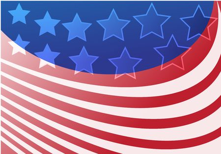 Stars and strips abstract graphic design based on US flag