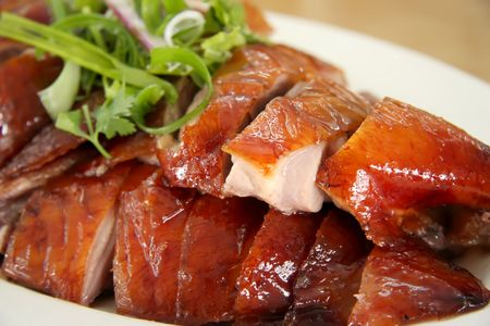 ducks: Slices of roast duck traditional chinese cuisine Stock Photo