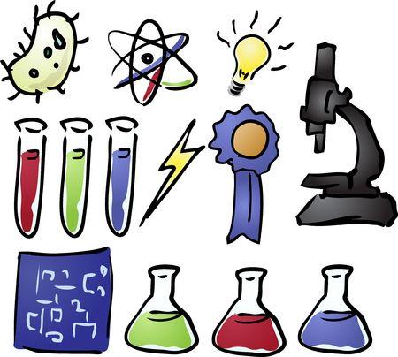 Science icon set  photo