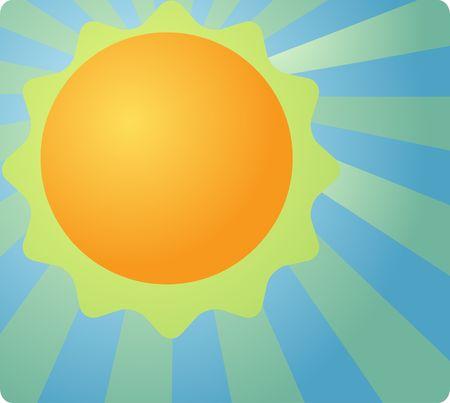 meteorological: Weather forecast icon illustration design sunny bright sunrays Stock Photo