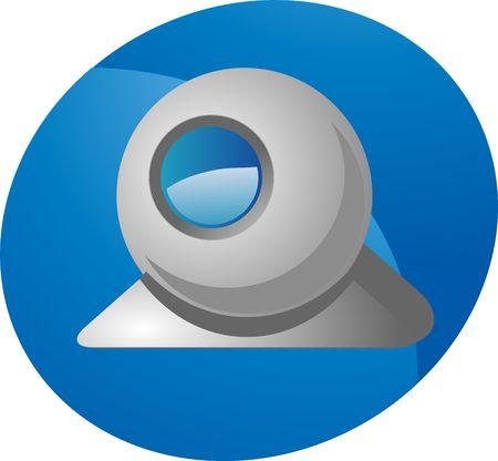 Computer webcam USB web camera round design illustration Stock Illustration - 3246323