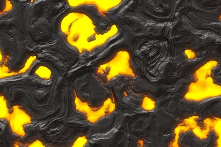 magma: Hot flaming magma lava texture rendered illustration Stock Photo