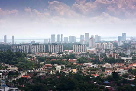 Panoramic view of the Malaysian city of Penang